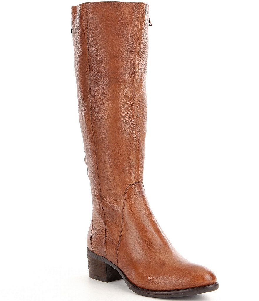 Steve Madden Lace-Up Leather Riding Boots
