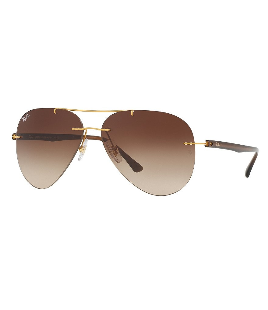 Ray-Ban Tech Rimless Gradient Aviator Sunglasses