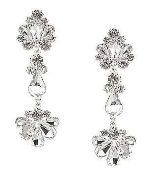 Cezanne Rhinestone Abstract Links Drop Earrings