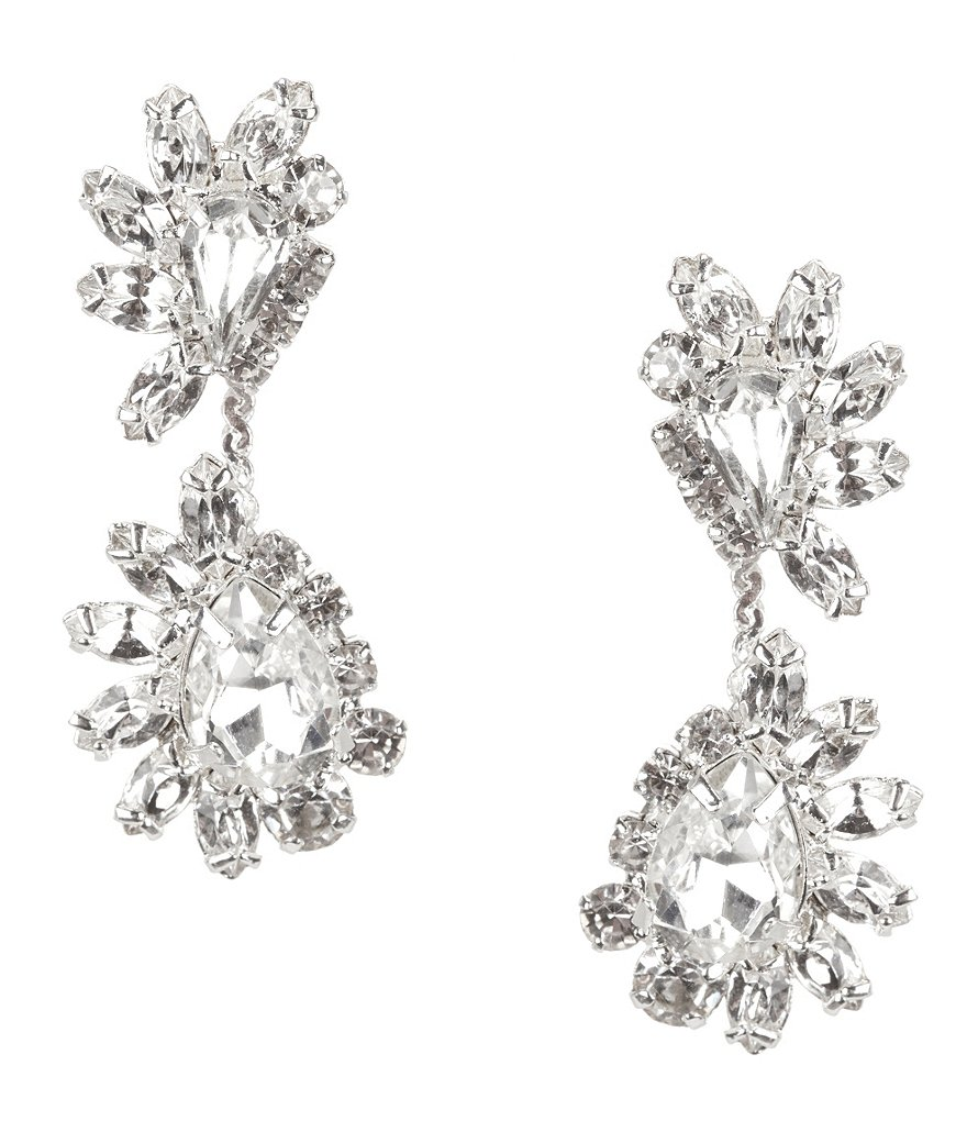 Cezanne Rhinestone Starburst Drop Earrings