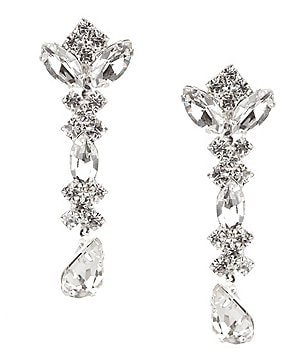 Cezanne Rhinestone Linear Earrings