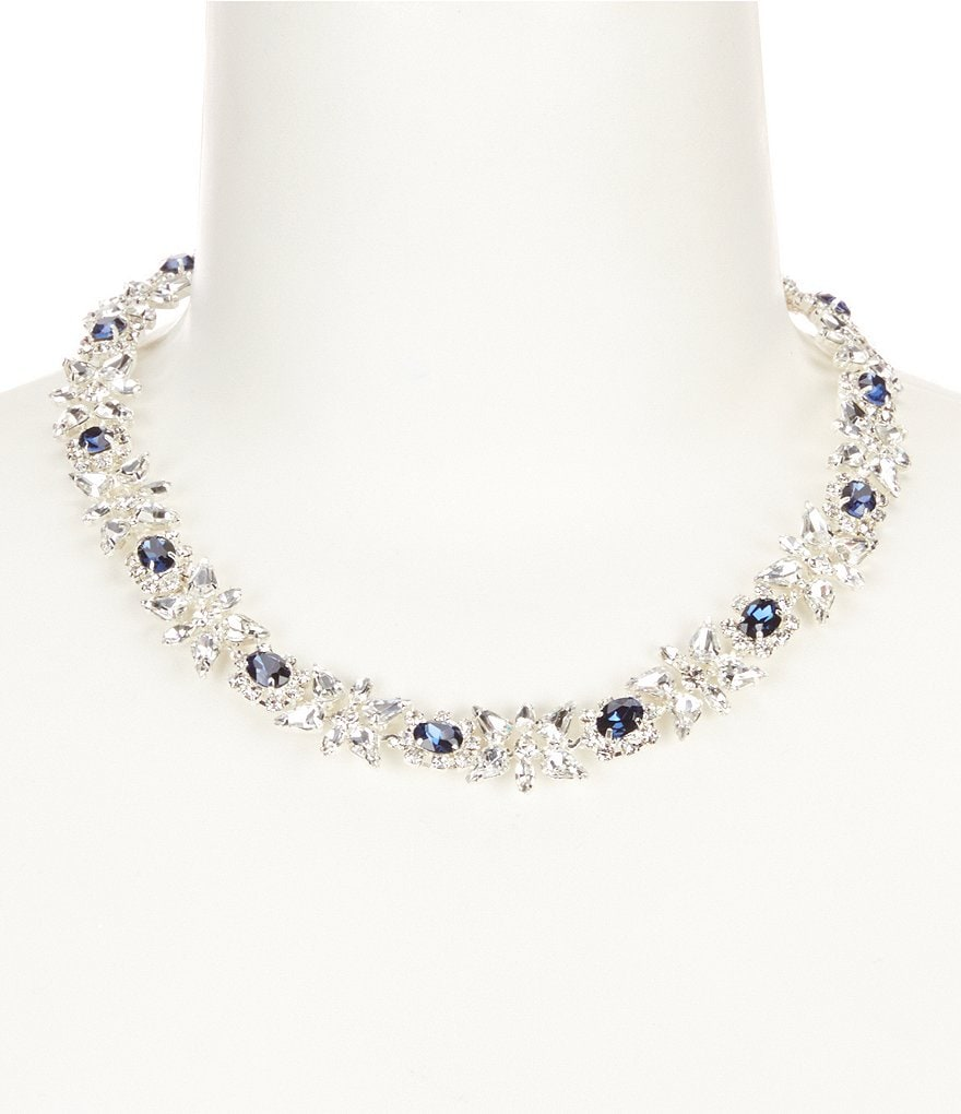 Cezanne Floral Rhinestone Collar Necklace
