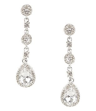 Cezanne Rhinestone Teardrop Earrings