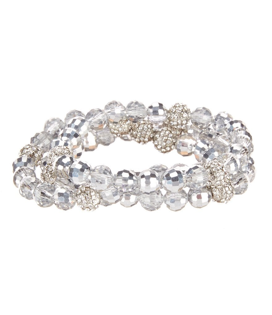 Cezanne Pavé Fireball 3-Row Stretch Bracelet
