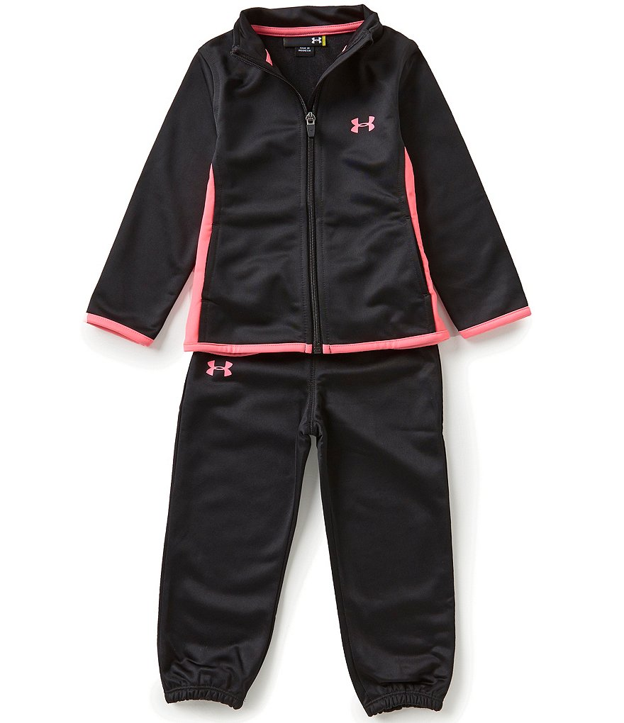 Under Armour Little Girls 2T-6X Superfan Track Jacket and Pants Set