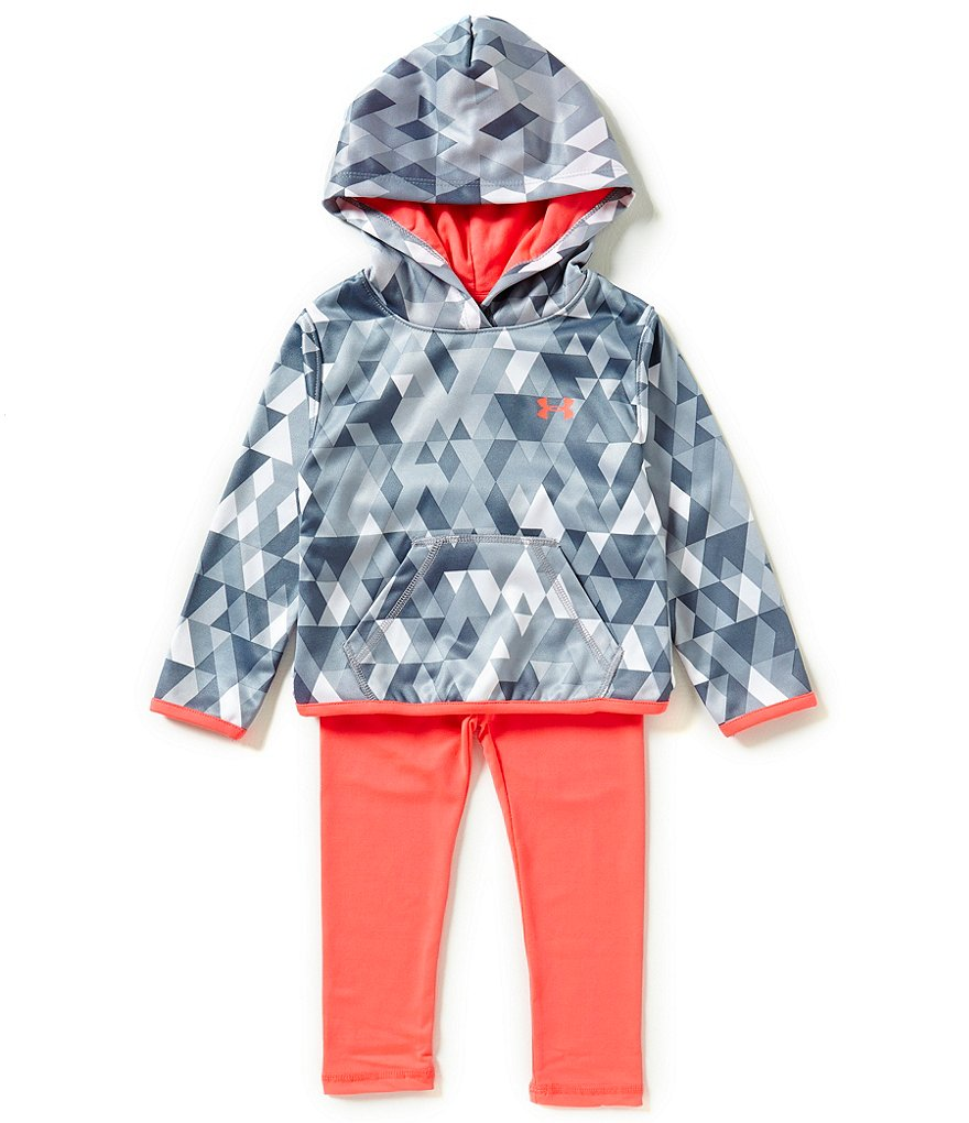 Under Armour Little Girls 2T-6X Tri-Meta Hoodie and Leggings Set