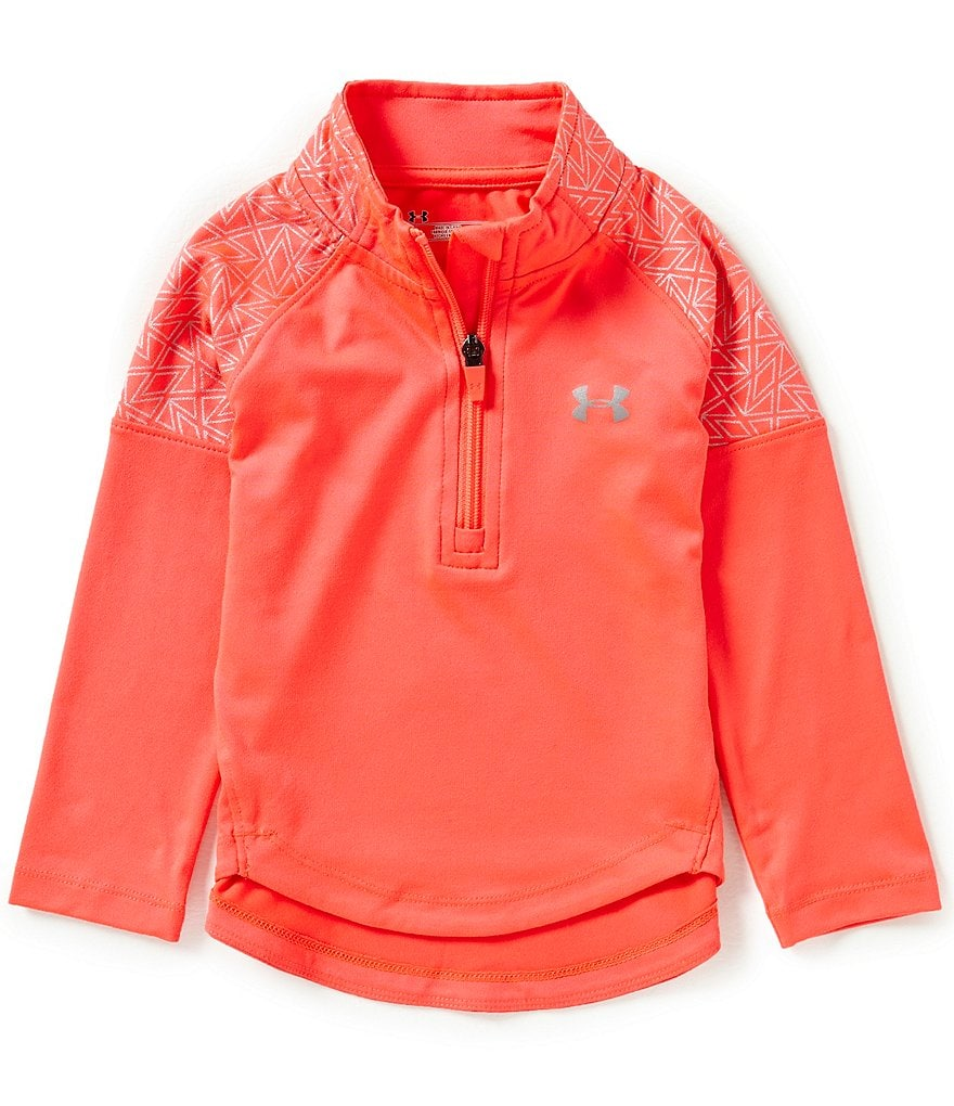 Under Armour Little Girls 2T-6X Chain-Grid Pullover Tee