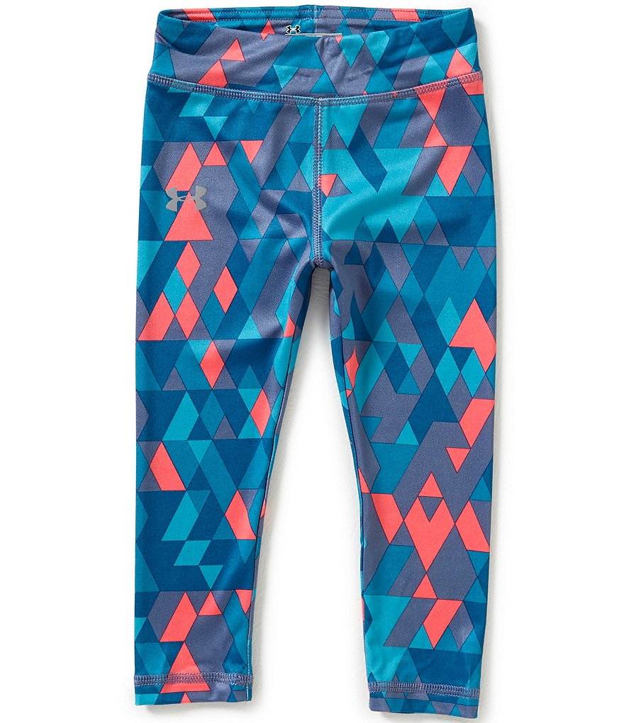 Under Armour Little Girls 2T-6X Tri-Meta Sublimation Leggings