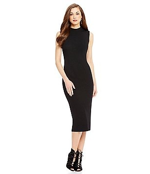 Antonio Melani Lori Mock Neck Sleeveless Knit Midi Sheath Dress