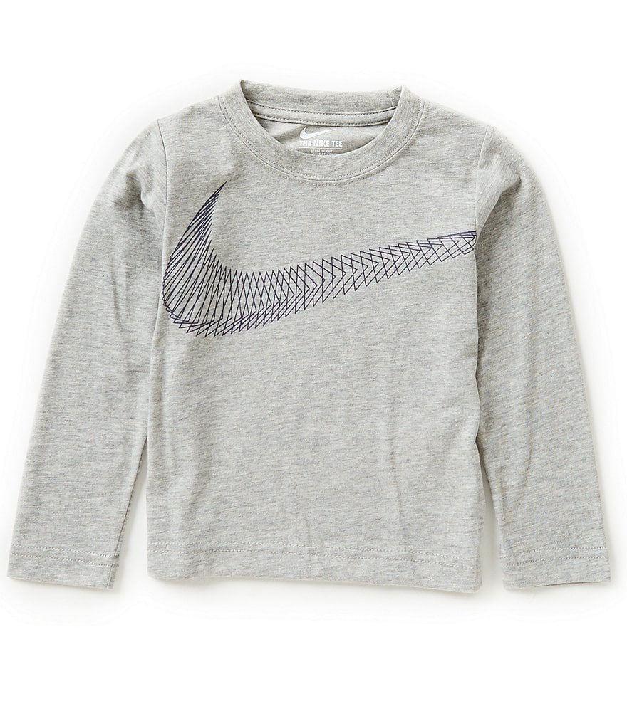 Nike Little Boys 2T-7 Swoosh Flow Long-Sleeve Shirt