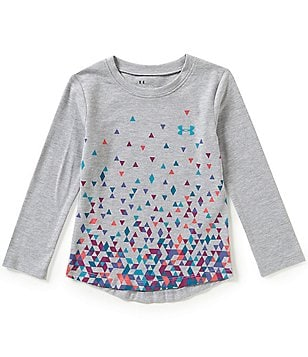 Under Armour Little Girls 2T-6X Tri-Meta Fade Tee