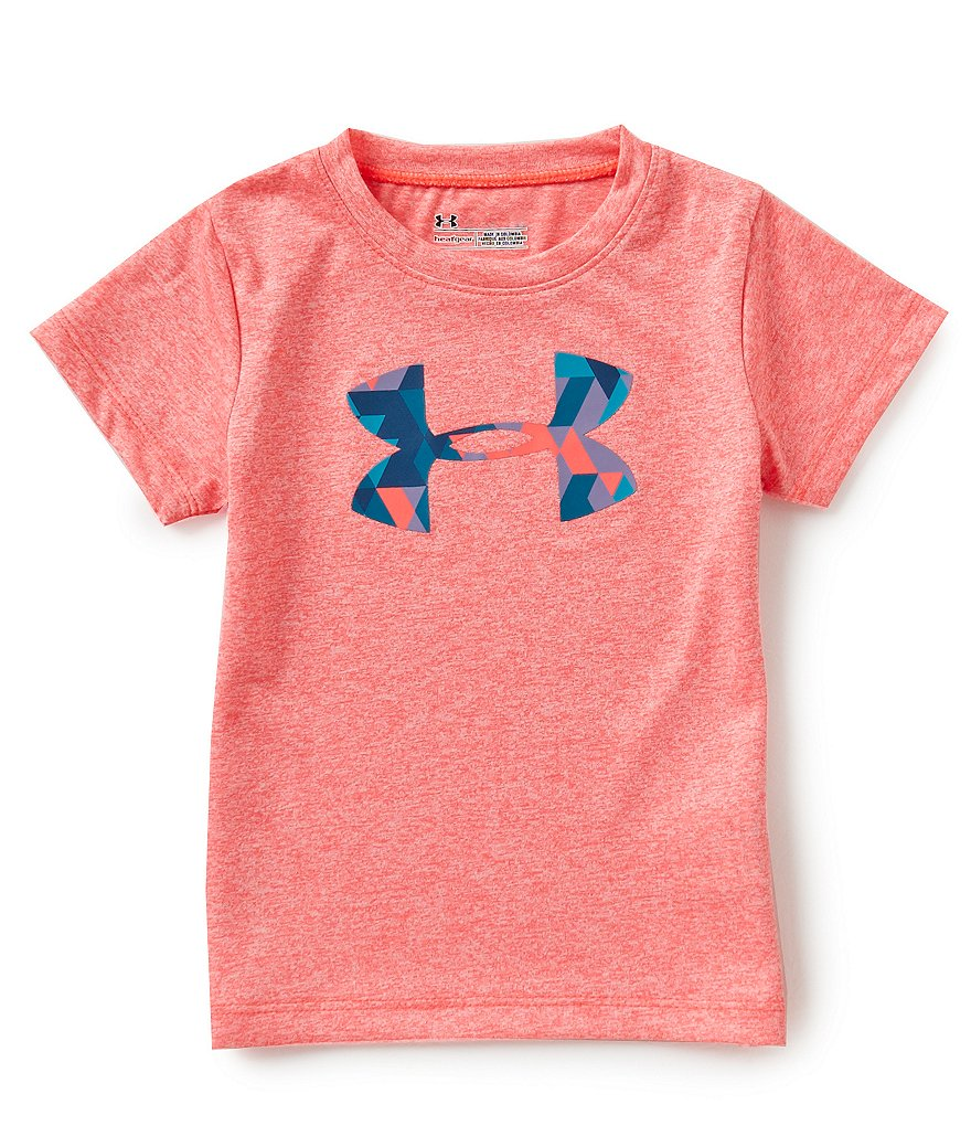 Under Armour Little Girls 2T-6X Trimeta Big Logo Tee