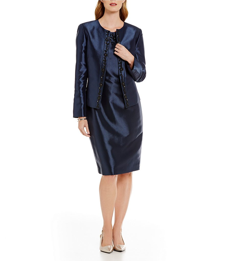 Preston & York Alanna Shantung Jacket & Melina Shantung Sheath Dress
