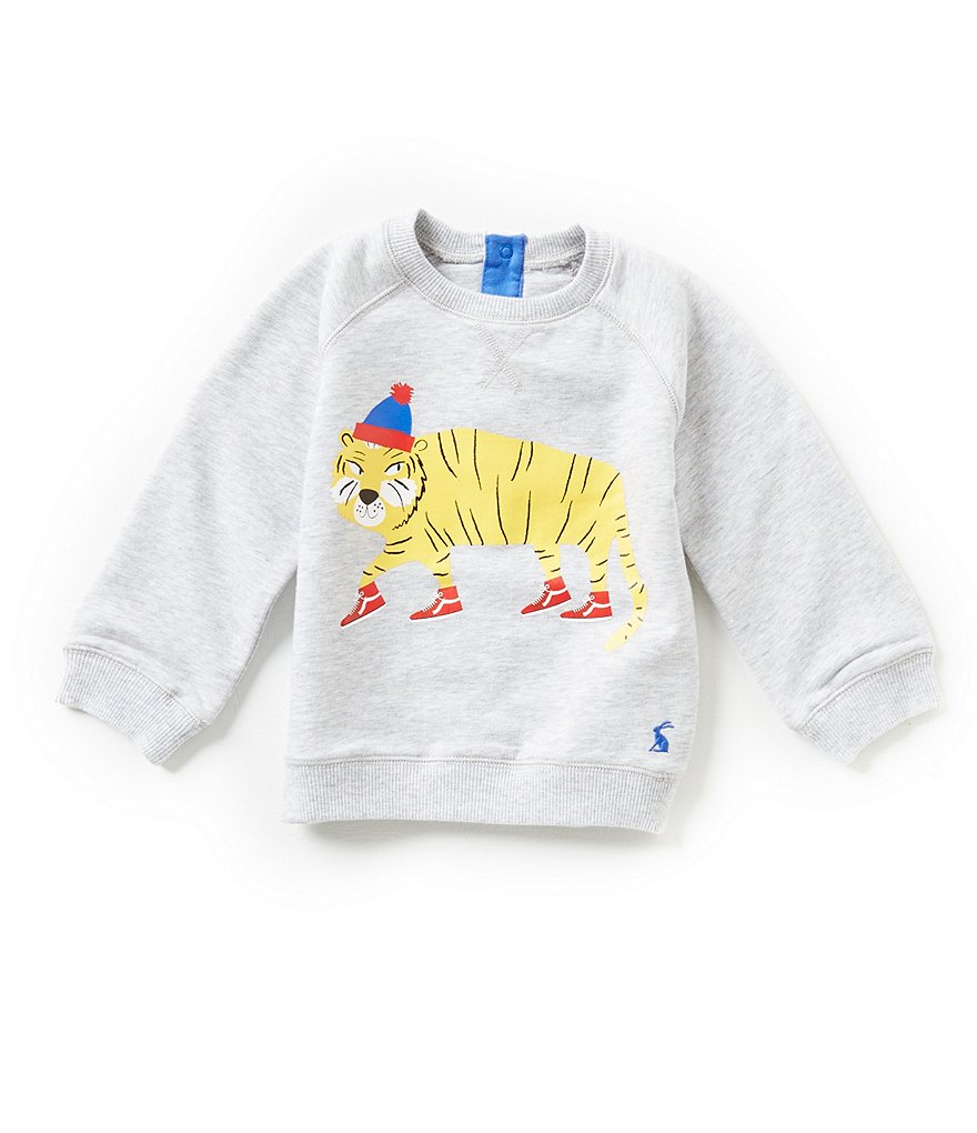 Joules Baby/Little Boys 12 Months-3T Tiger Screenprint Sweatshirt
