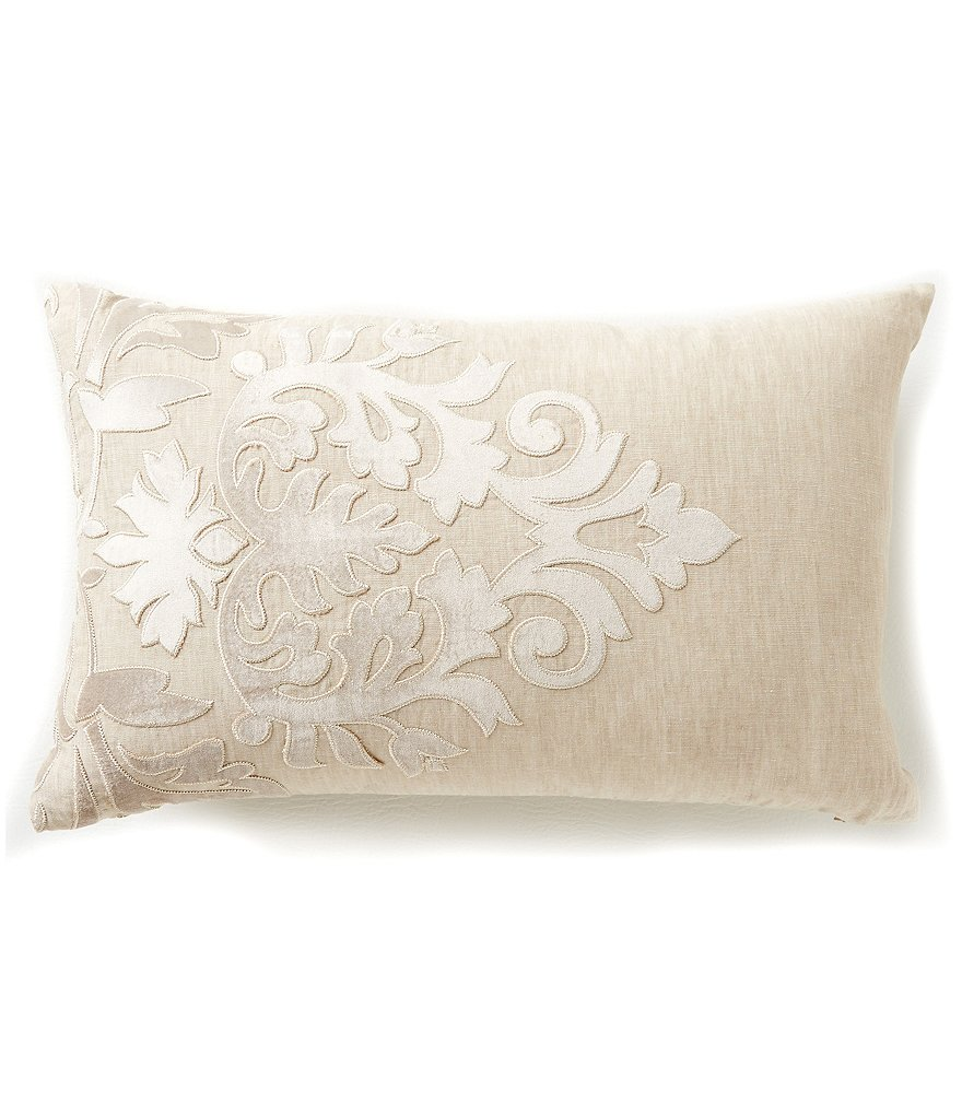 Southern Living Holiday Heirloom Embroidered Linen Breakfast Pillow
