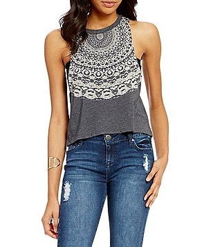 Billabong Girls Surf Graphic Printed Muscle Tee