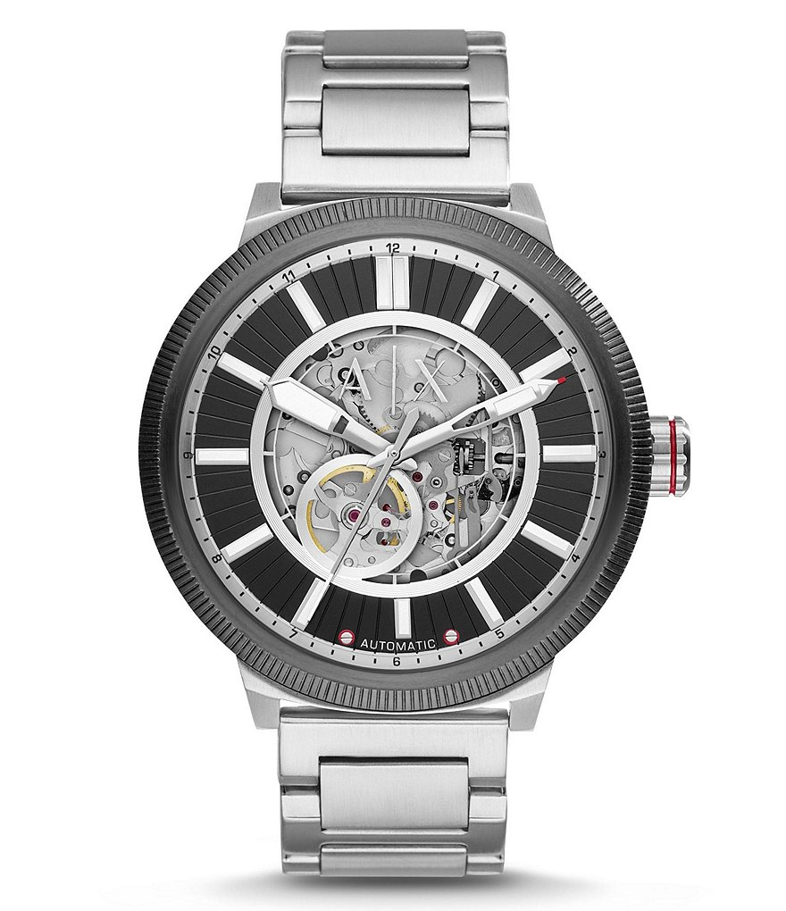AX Armani Exchange ATLC Automatic Skeleton Bracelet Watch