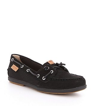 Sperry Coil Ivy Leather and Textile Slip On Boat Shoes