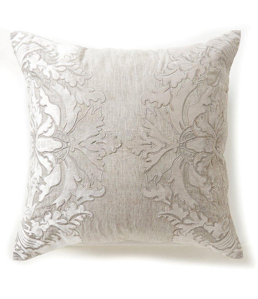 Southern Living Holiday Heirloom Linen Embroidered Euro Sham