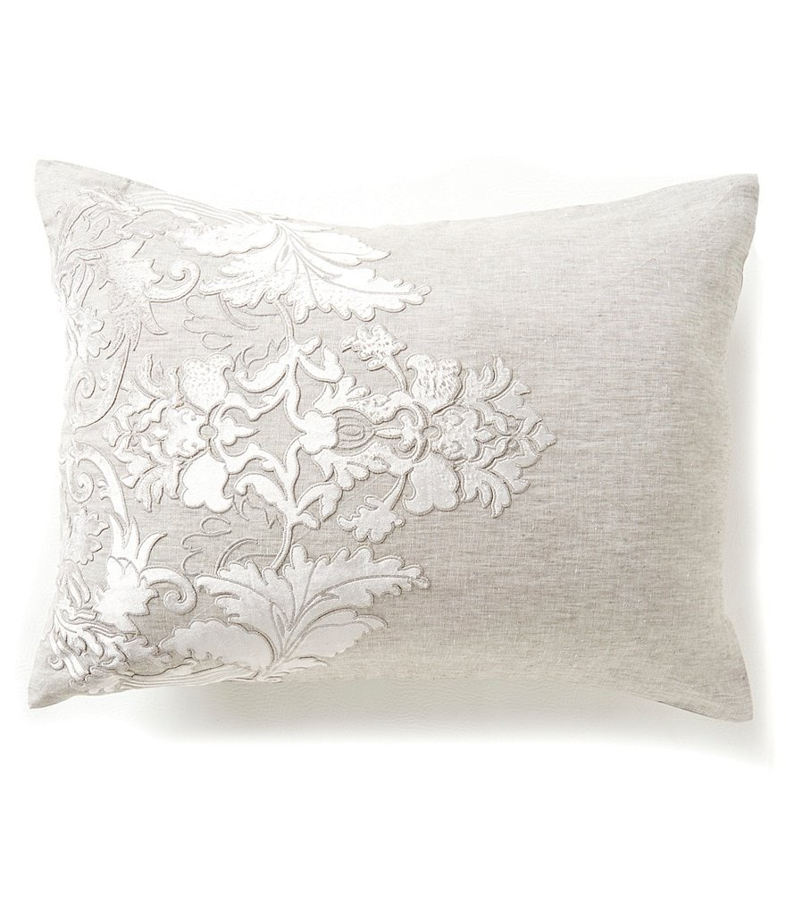Southern Living Holiday Heirloom Linen Embroidered Sham