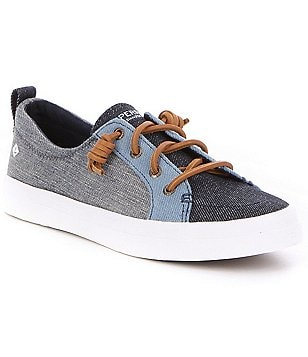 Sperry Crest Vibe Denim Color Block Lace-Up Sneakers