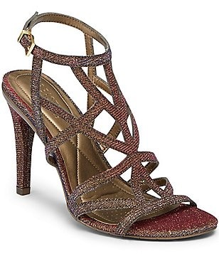 Kenneth Cole Reaction Smash-Ing Shimmer Criss-Cross Dress Sandals