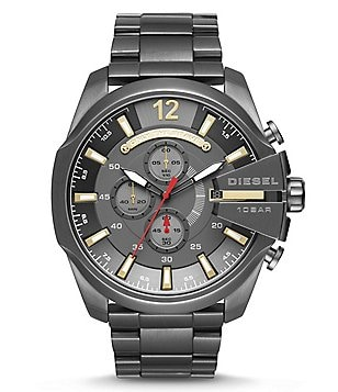 Diesel Mega Chief Chronograph Stainless Steel Bracelet Watch