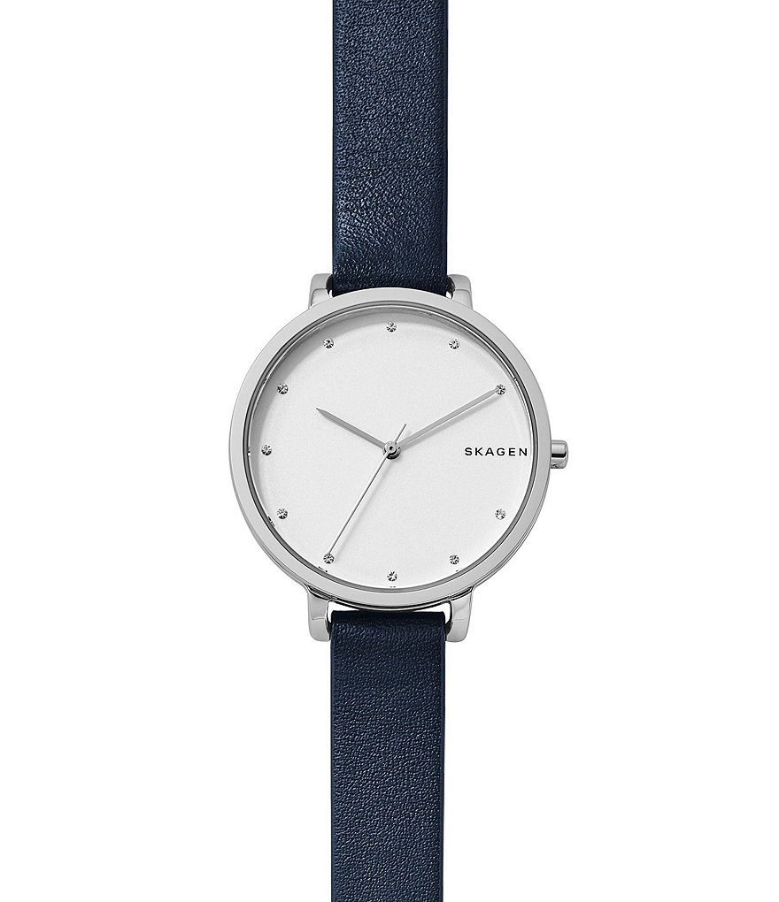 Skagen Hagen Leather-Strap Watch