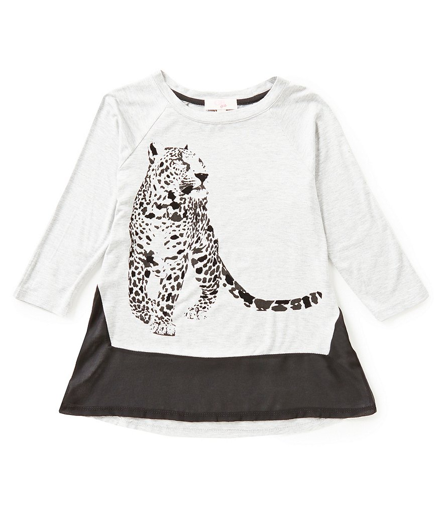 GB Girls Big Girls 7-16 Flocked Leopard Tee