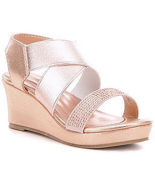 Kenneth Cole Reaction Girl´s Reed Along Metallic Stone Embellished Wedge Sandals