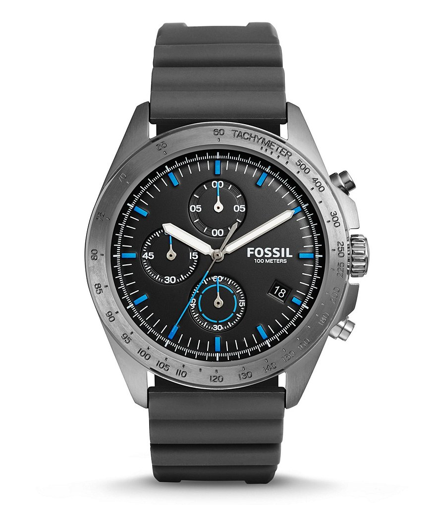 Fossil Sport 54 Chronograph Silicone-Strap Watch