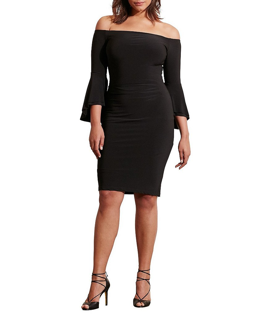 Lauren Ralph Lauren Plus Off-the-Shoulder Sheath Dress