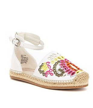 Kenneth Cole Reaction Girl´s Swell Floral Embroidered Espadrille Sandal