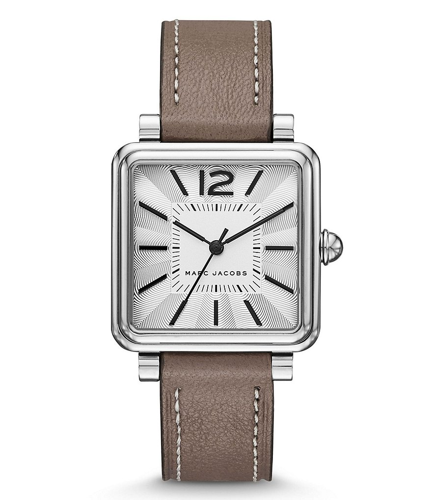 Marc Jacobs Vic Analog Leather-Strap Watch