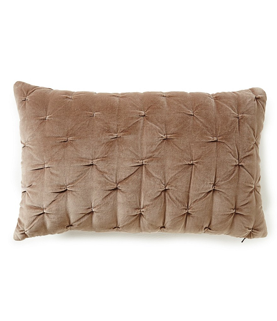 Villa by Noble Excellence Sonnet Quilted Velvet & Satin Breakfast Pillow