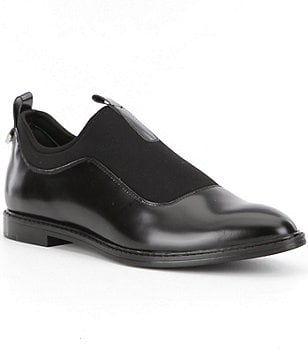 Calvin Klein Damaria Leather Slip-Ons Oxfords