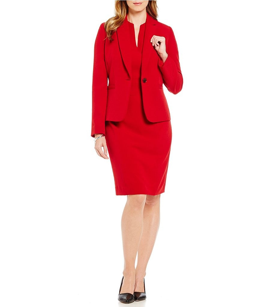 Preston & York Hale Blazer Jacket and Roanna V-Neck Sheath Dress