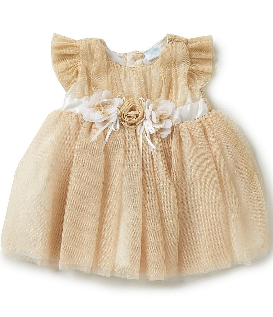 Edgehill Collection Baby Girls Newborn-24 Months Metallic-Crinoline Dress