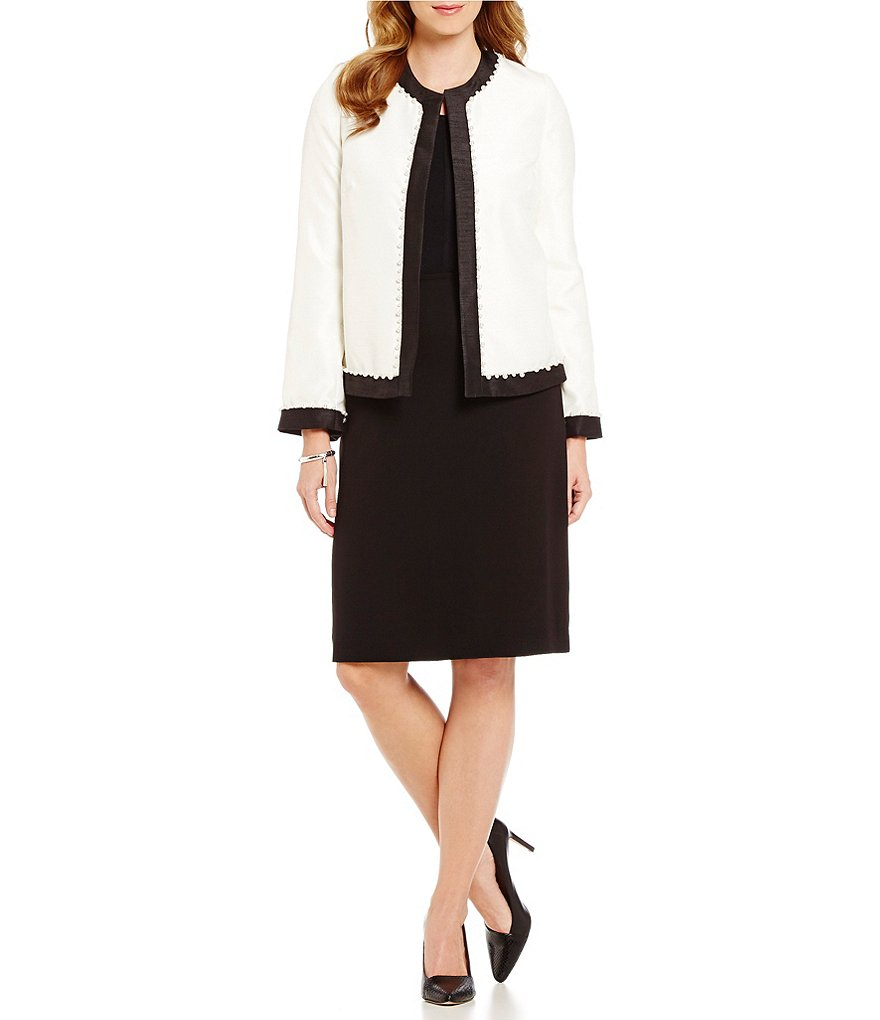 Preston & York Dominique Shantung Jacket & Kelly Pencil Skirt