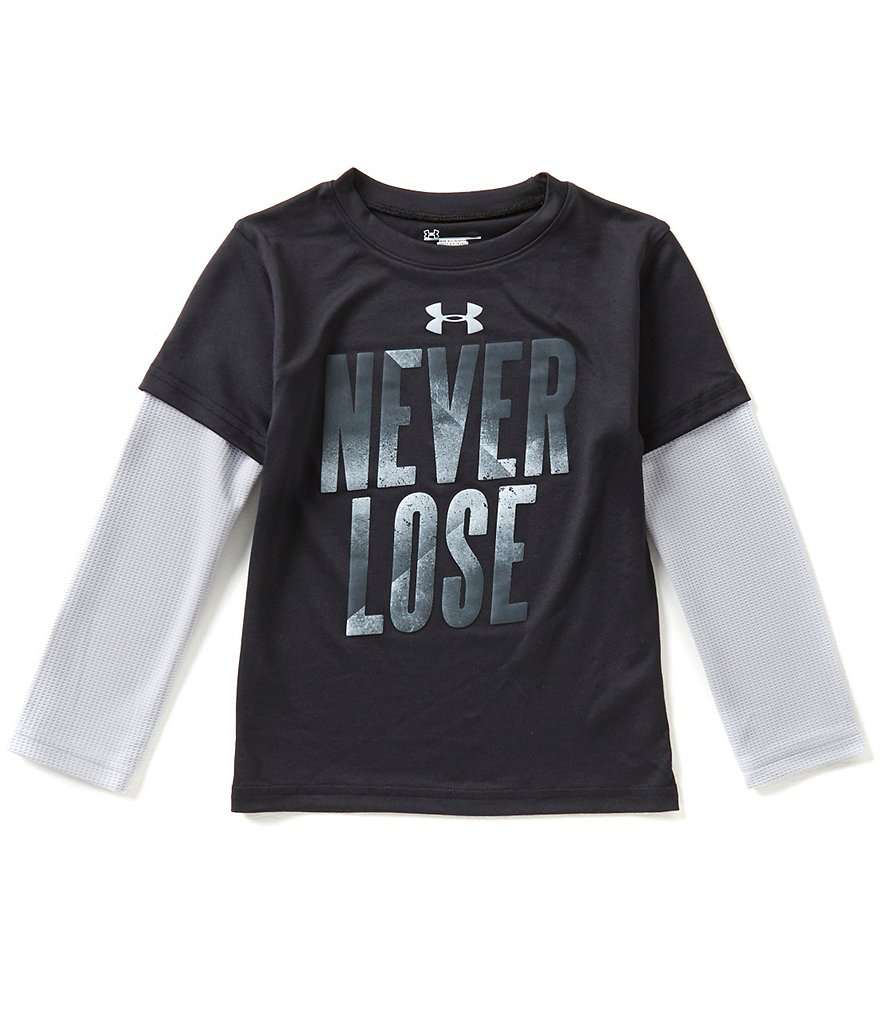 Under Armour Little Boys 4-7 Never Lose Color Block Slider Tee