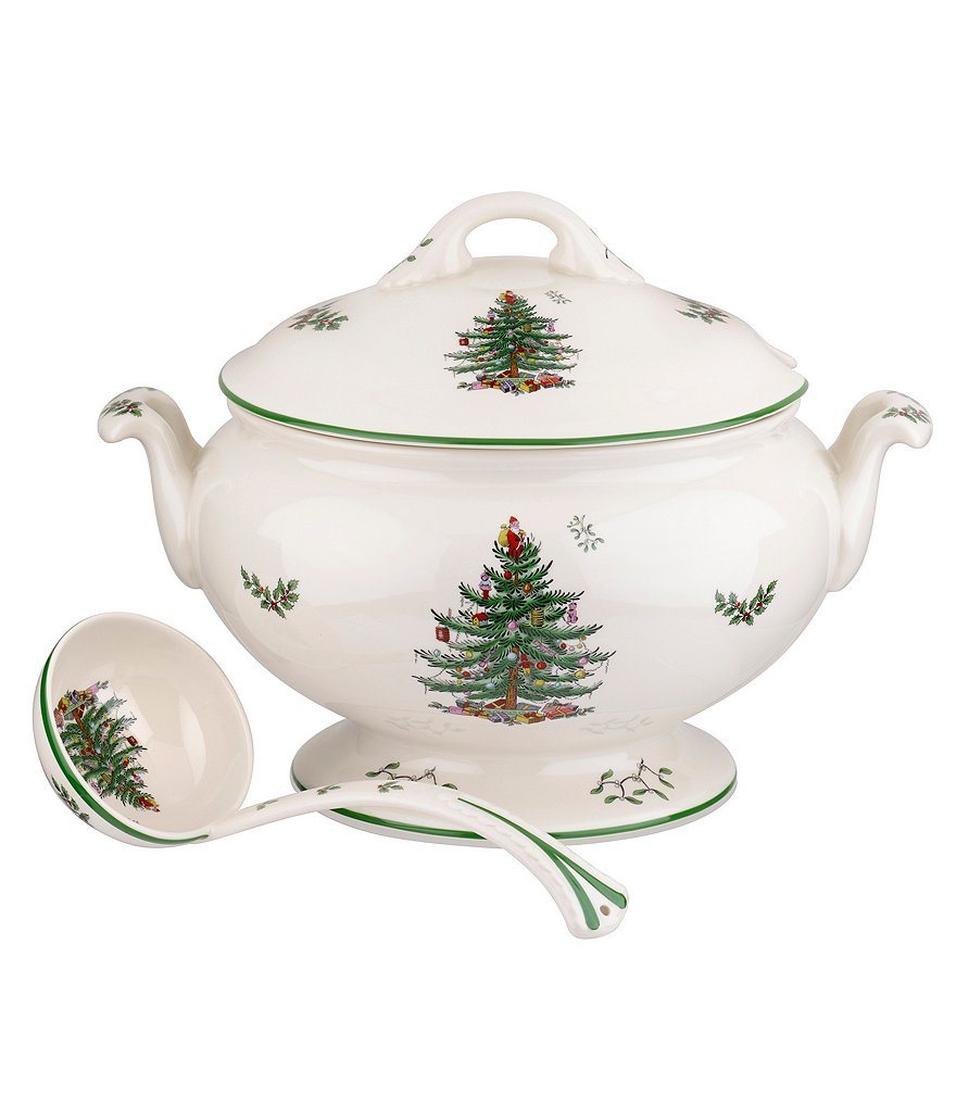 Spode Christmas Tree Footed Tureen & Ladle