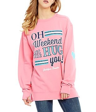 Jadelynn Brooke Oh Weekend Long-Sleeve Graphic Sweatshirt