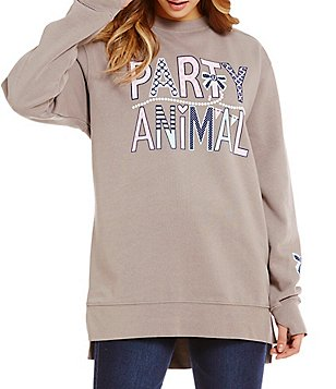 Jadelynn Brooke Party Animal Graphic Print Sweatshirt