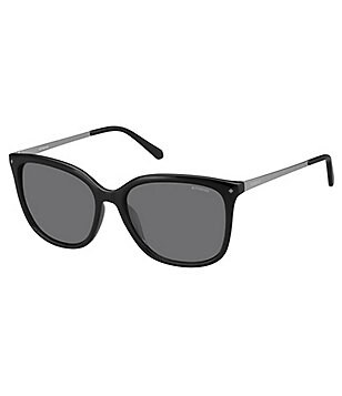 Polaroid Polarized Upswept Rectangular Sunglasses