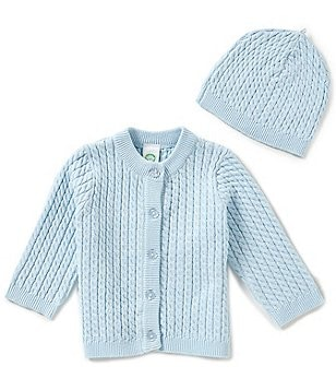 Little Me Baby Boys 3-12 Months Huggable Cable-Knit Sweater And Hat Set