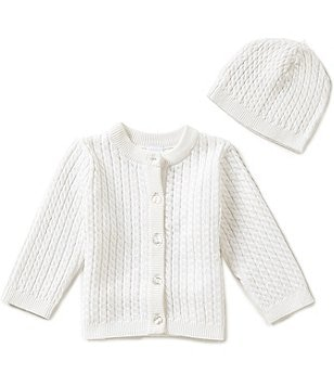 Little Me 3-12 Months Huggable Cable-Knit Sweater and Hat Set