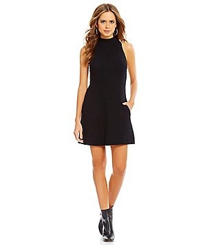 Gianni Bini Marnie Mock Neck Side Pocket Sweater Dress