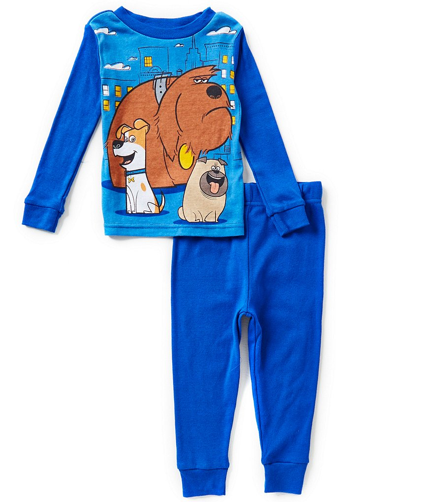 AME Life of Pets Little Boys 2T-4T Printed Top & Pants 4-Piece Pajama Sets