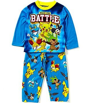 AME Pokemon Little/Big Boys 4-10 Printed Top & Pants Pajama Set