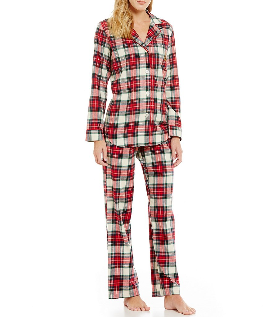 Lauren Ralph Lauren Plaid Brushed Twill Classic Pajamas